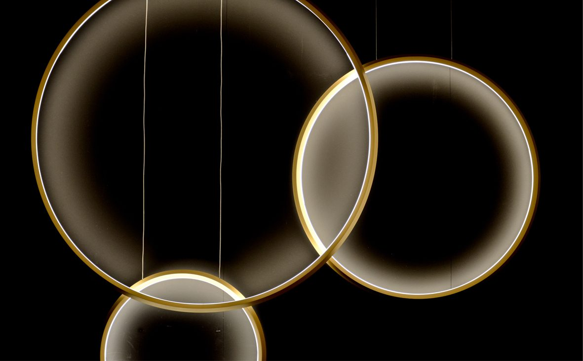 2014, giratta, sattler lighting, germany, sattler, germany, light, lighting, ringförmig, kreisform, circle, circular, licht, leuchte, beleuchtung, pendelleuchte, cooperation, design, produkt, product, elegant, modern, markus bischof produktdesign