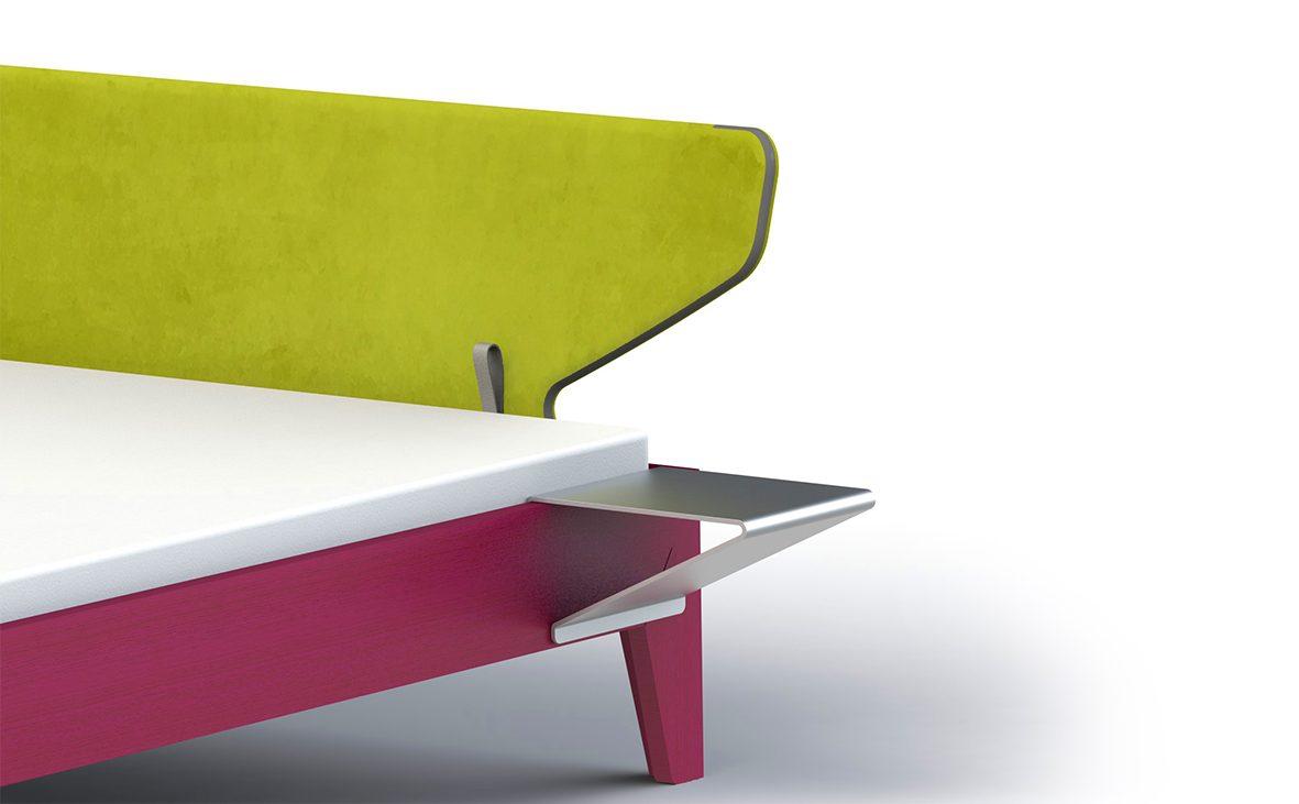 2016, kink, bett, esche, eschenholz, adaptiv, tischkonsole, bed, ash-wood, console, table, design, produkt, product, modern, markus bischof produktdesign