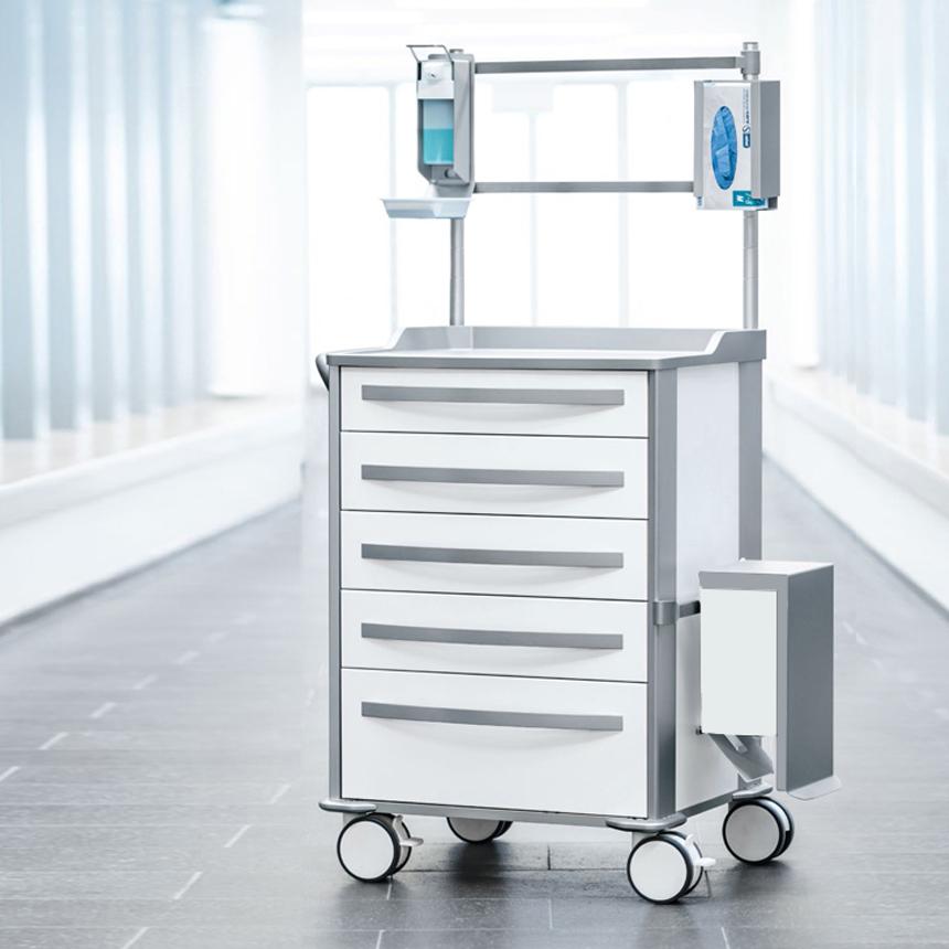 Medical, trolley, zarges, design, markus bischof produktdesign, 2018, mpo, griff, ergonomisch, handle, funktional