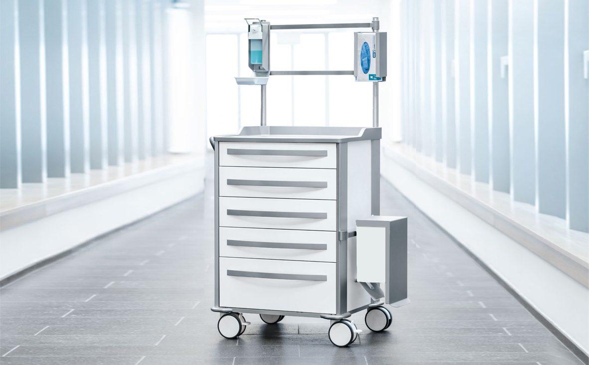 2018, medical, trolley, zarges, design, markus bischof produktdesign, mpo, griff, ergonomisch, handle, funktional, baukasten-system, modular, system