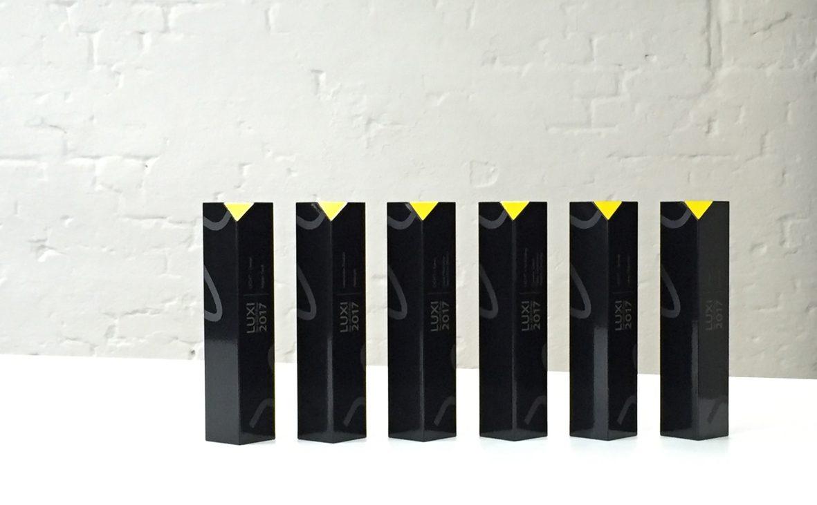 2017, luxi, award, preis, pflaum verlag, pflaum-verlag, germany, lichtpreis, trophy, light award, trophäe, design, markus bischof produktdesign