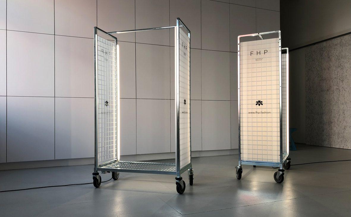 2019, pos, cooperation, point of sale, system, hiltl, fhp, hosenlabel, pants, label, portable, display, lighting concept, beleuchtungskonzept, design, markus bischof produktdesign
